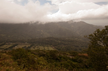 The lookout over San Luis exemplifies the inconsistent forests in the corridor. Photo by Stephanie Sidoti