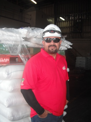 "Erick Villalobos leads Arroz Sabanero rice processing plant, where most employees are men. Agriculture and tourism are industries where Costa Rica's ""machista"" culture contributes to a male-dominated workforce."